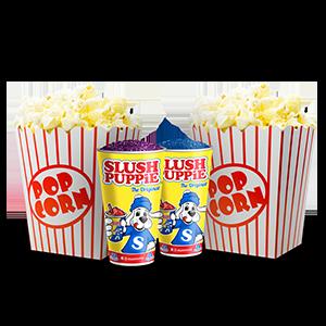 2 Popcorns 2 Slushies