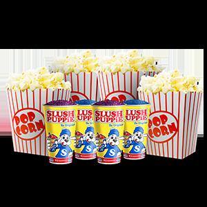 4 Popcorns 4 Slushies Image